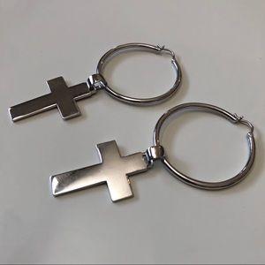 NWOT Cross Earrings